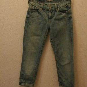 7 for all Mankind the skinny, crop and roll